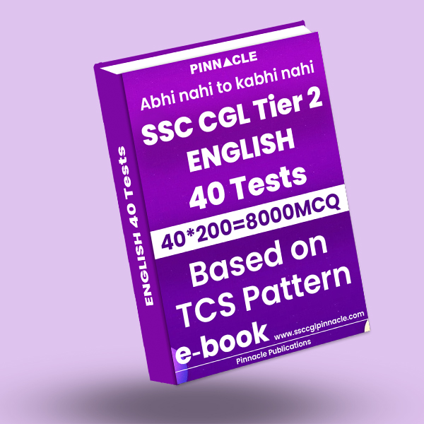 SSC CGL Tier 2 English 40 Test ebook