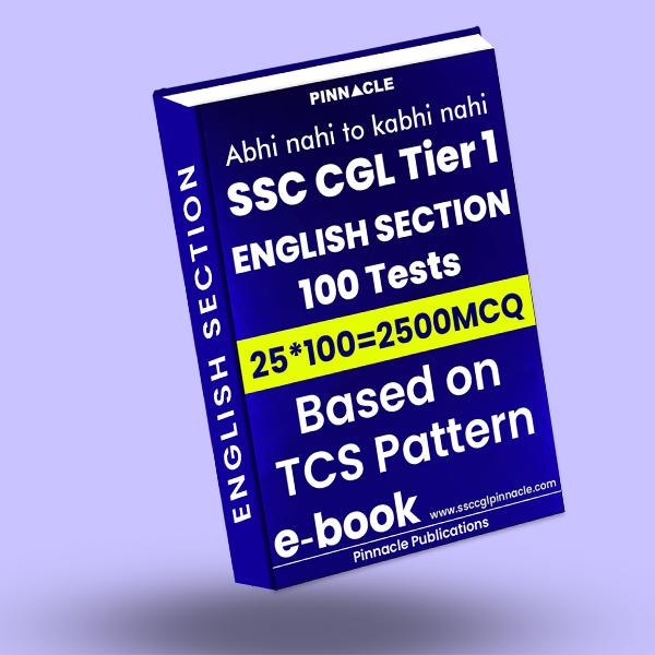 SSC CGL Tier 1 English: 100 practice sets TCS Pattern ebook