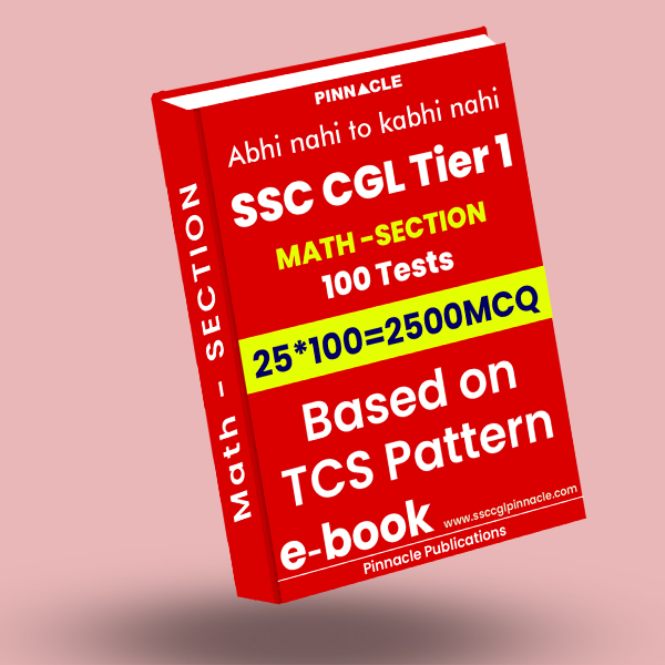 SSC CGL Tier 1 Maths: 100 practice sets ebook TCS Pattern