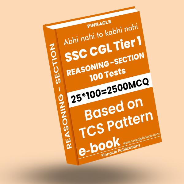 SSC CGL Tier 1 Reasoning: 100 practice sets ebook TCS Pattern