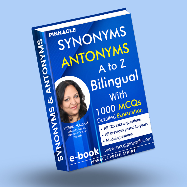 Antonyms and Synonyms A to Z bilingual with 1000 MCQ  ebook