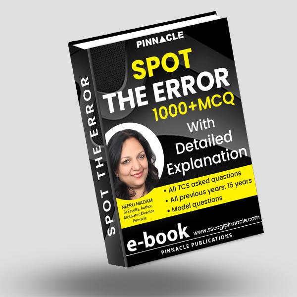Spot the error ebook Neeru Madam
